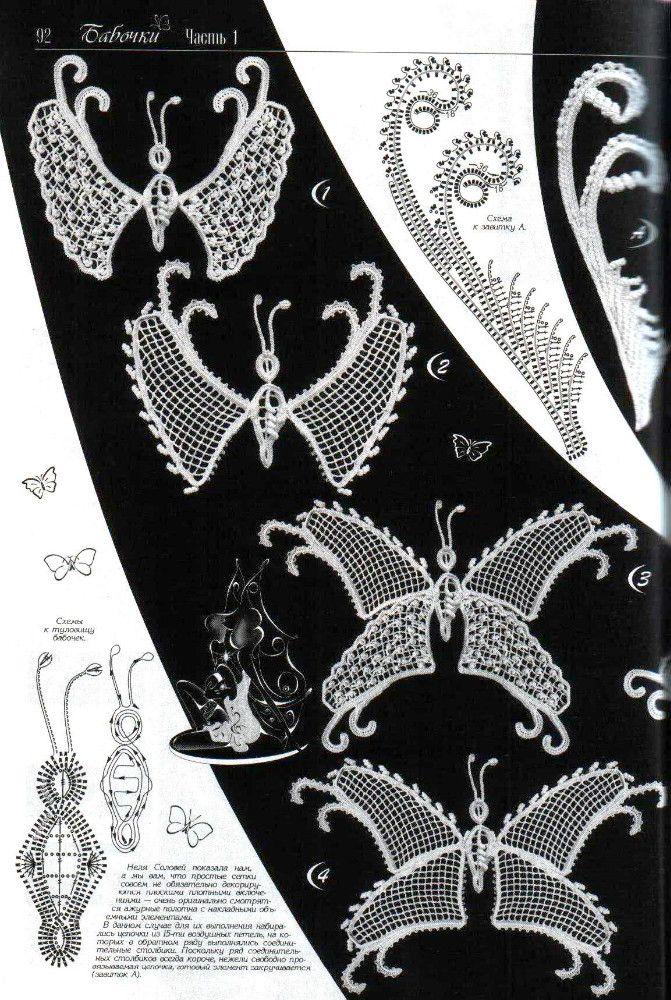 Lace crochet butterfly | Häkeln Schmetterling crochet butterfly ...