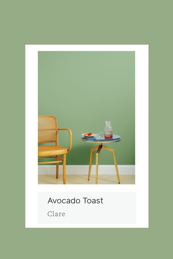 Avocado Toast | Avocado Green Paint Color | Clare