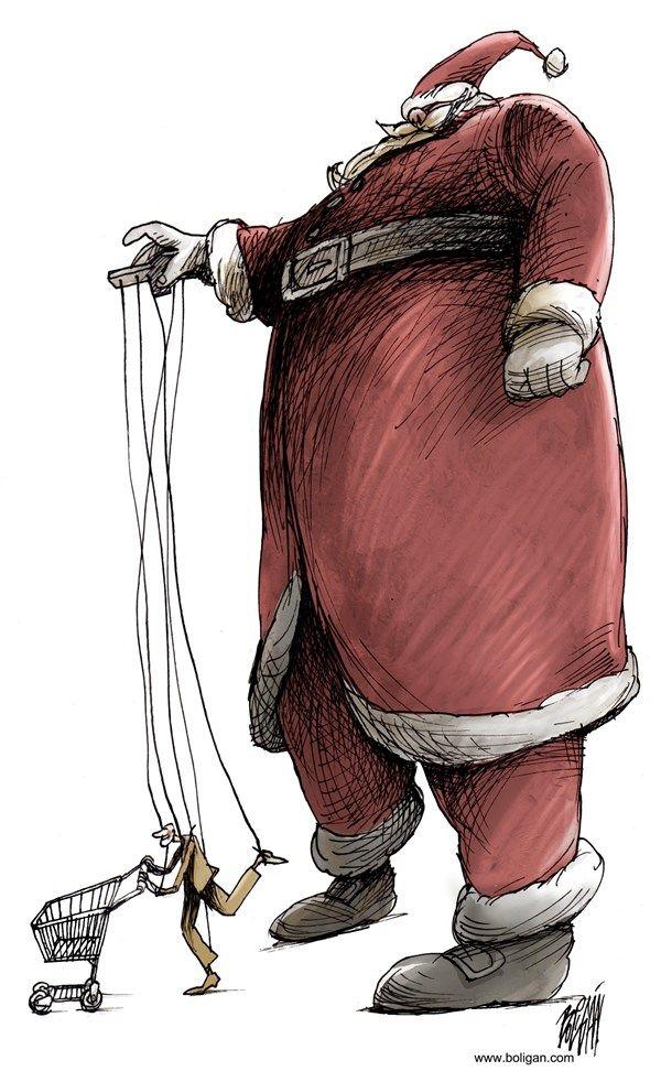 Christmas Shopping Spirit Dec 20 14 Angel Boligan El