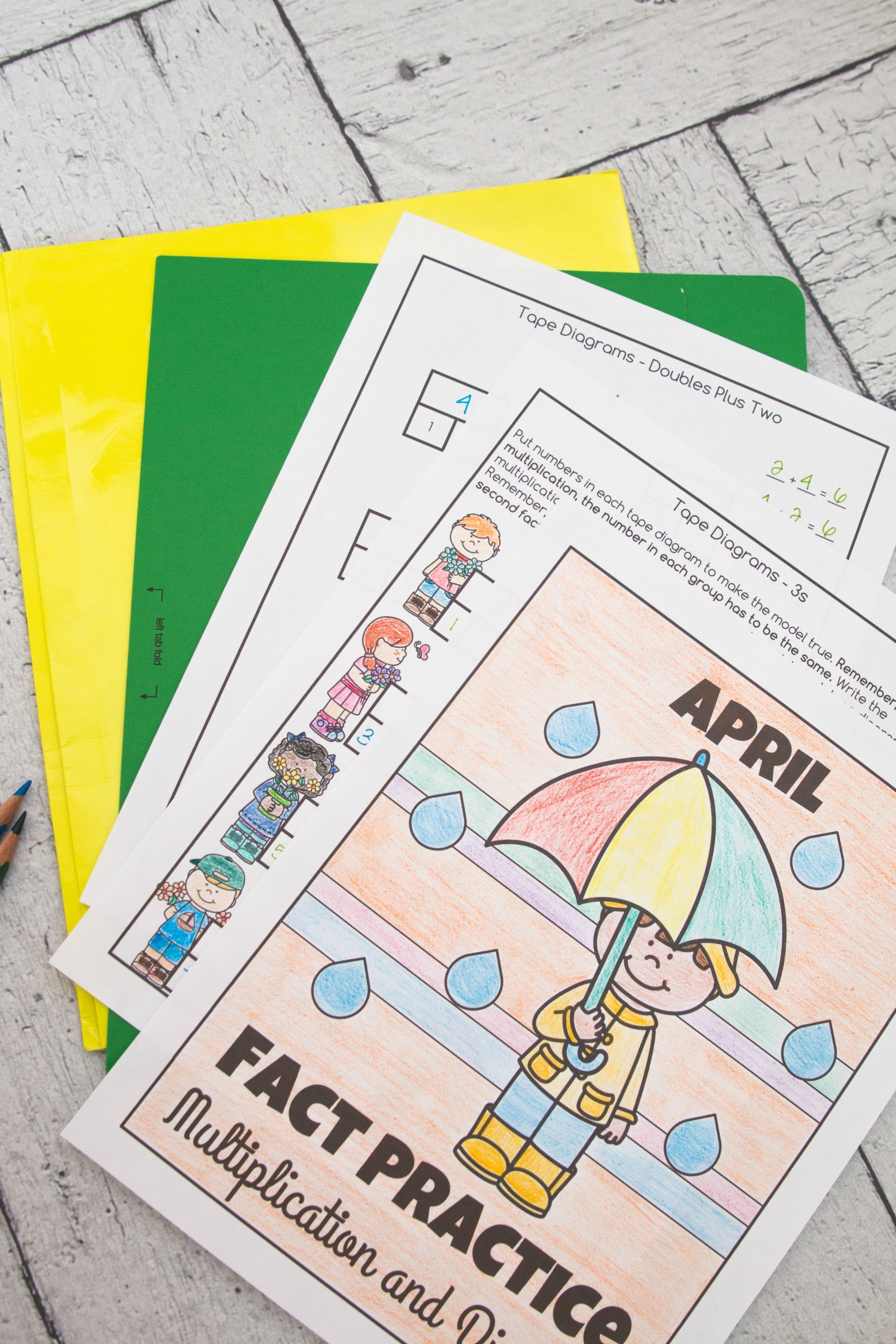 Multiplication And Division Math Facts Worksheets April