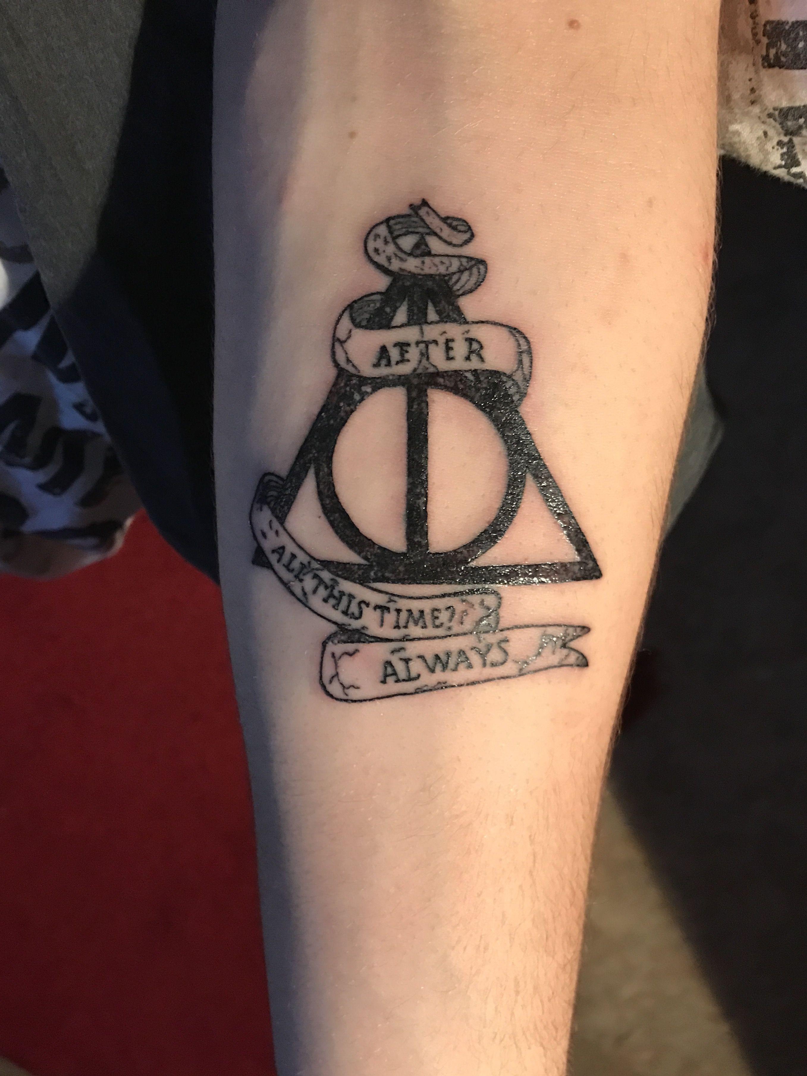 First Tattoo Mi Primer Tatuaje Harry Potter Desde Pequeño A
