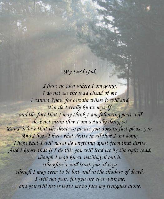 Jesus Takes The Cake Seek God In Your Insecurity Prayer For Guidance Thomas Merton Prayer Thomas Merton Quotes