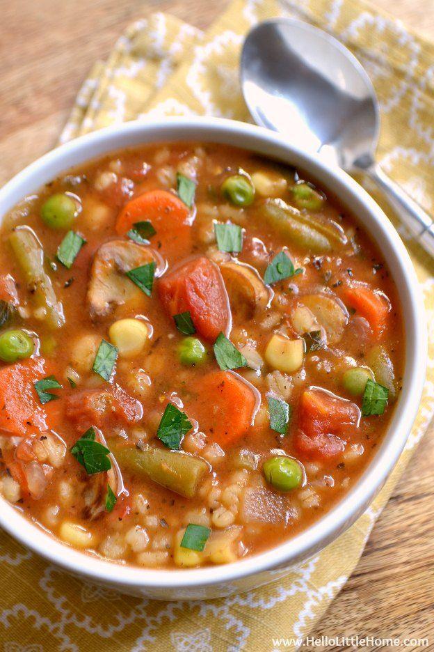 Vegetable Barley Soup Recipe Vegetable Soup Recipes