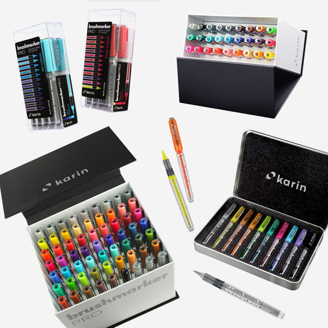 Karin Markers - newly lowered price! in 2020 | Gel pens set, Art pens and  markers, Marker art