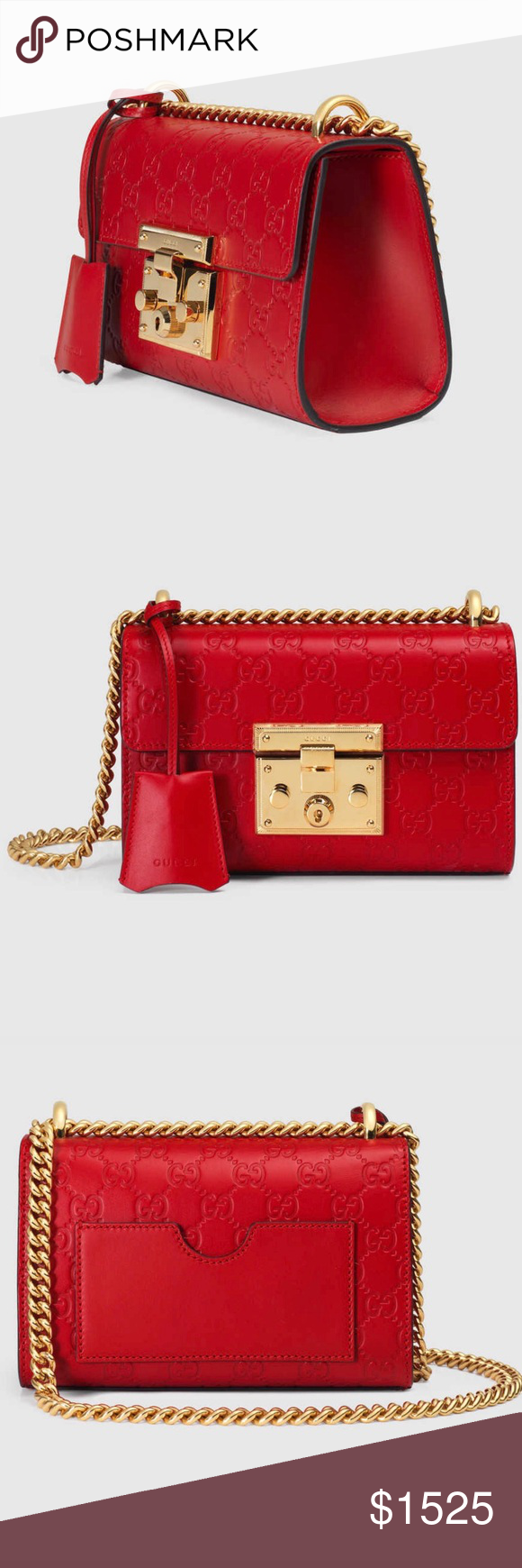 f3e2d75d Padlock Gucci Signature shoulder bag Small Gucci leather bag with a ...