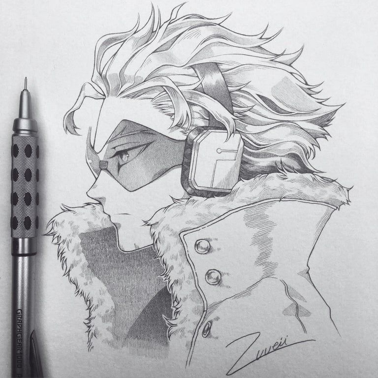 Photo of A piece I did of Hawks!! Done in 0.3 HB pencil