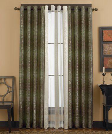 hunter green moscow curtain panel zulily zulilyfinds - Hunter Green Curtains