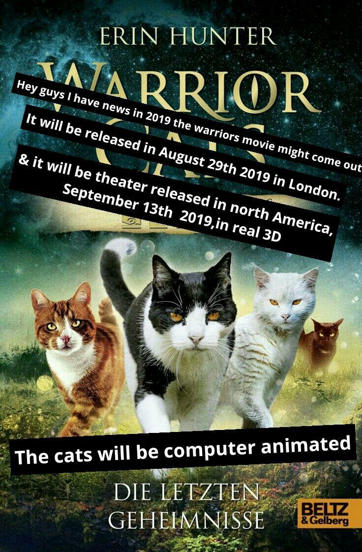Warrior Cat Moive News Warrior Cats Comics Warrior Cats Funny Warrior Cats Movie