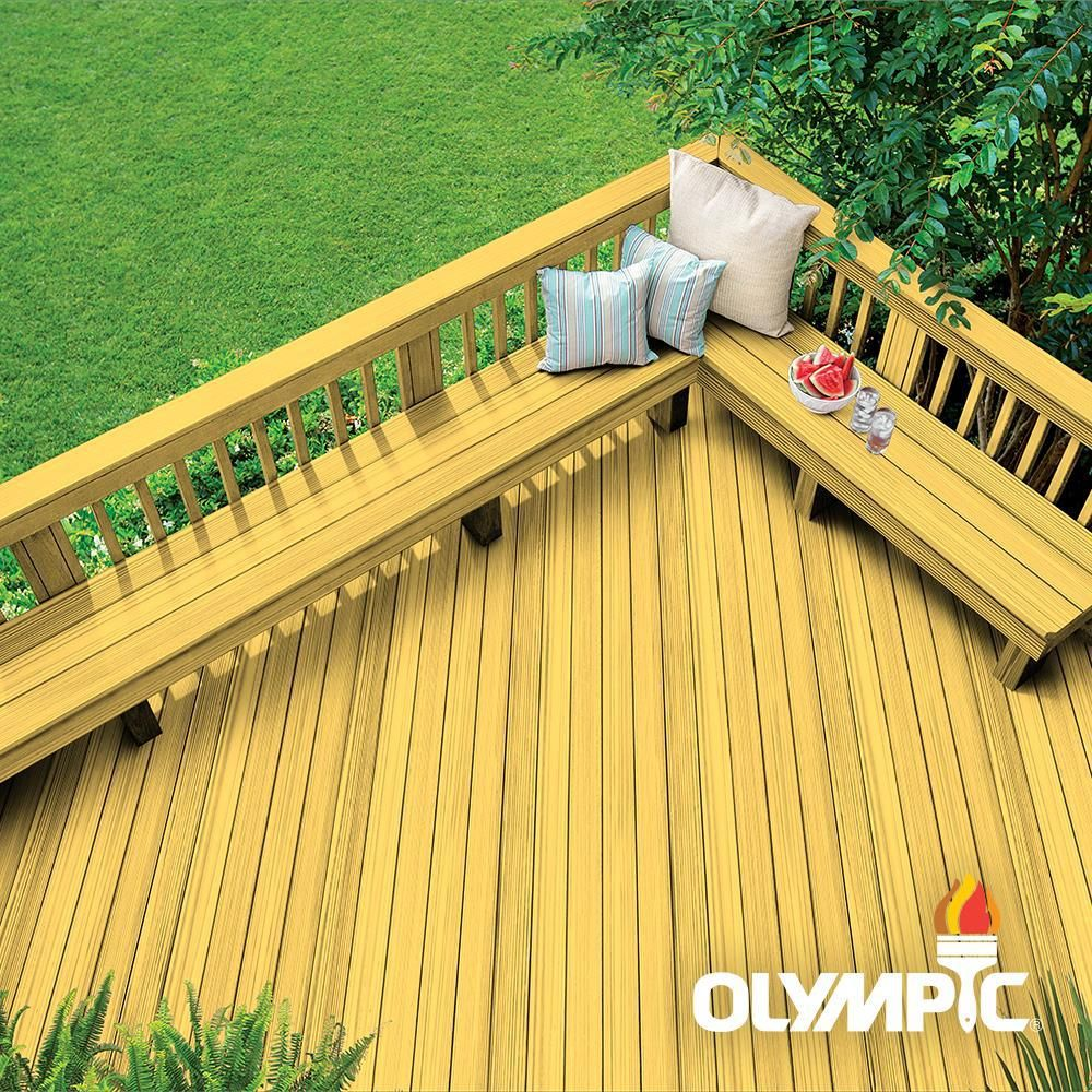 Olympic Maximum 1 Gal Honey Gold Exterior Stain And Sealant In One Low Voc 56502a 01 Exterior Wood Stain Exterior Stain Exterior Wood