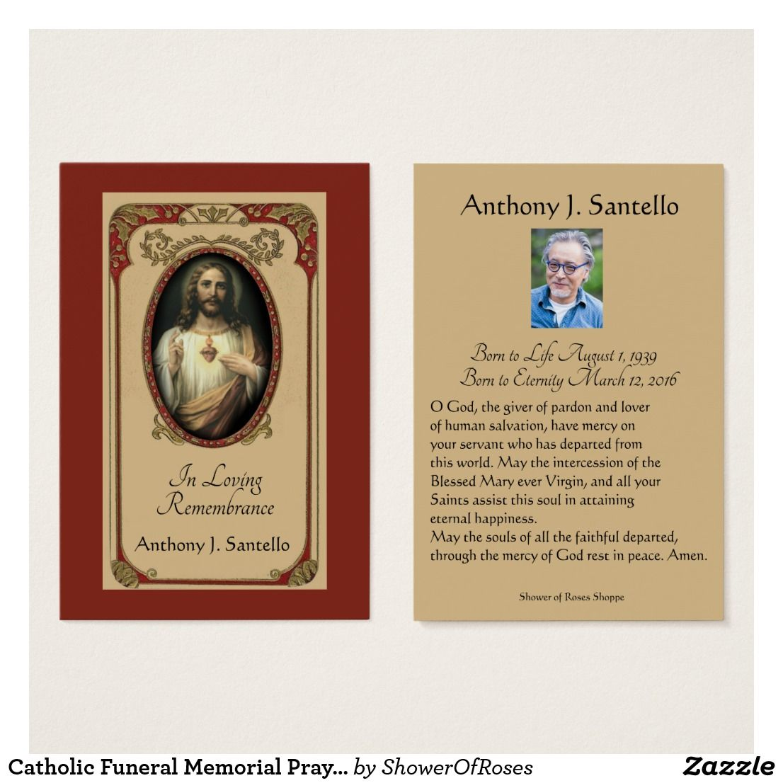 funeral prayer cards in spanish
