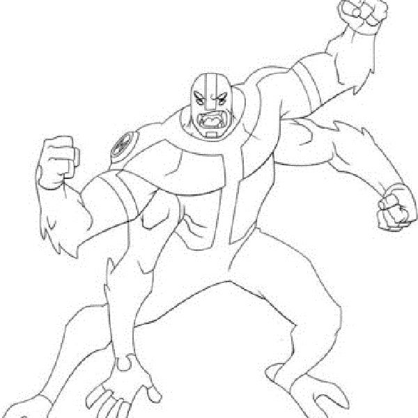 Ben 10 Coloring Pages Four Arms New Coloring Pages Coloring Pages Four Arms Color