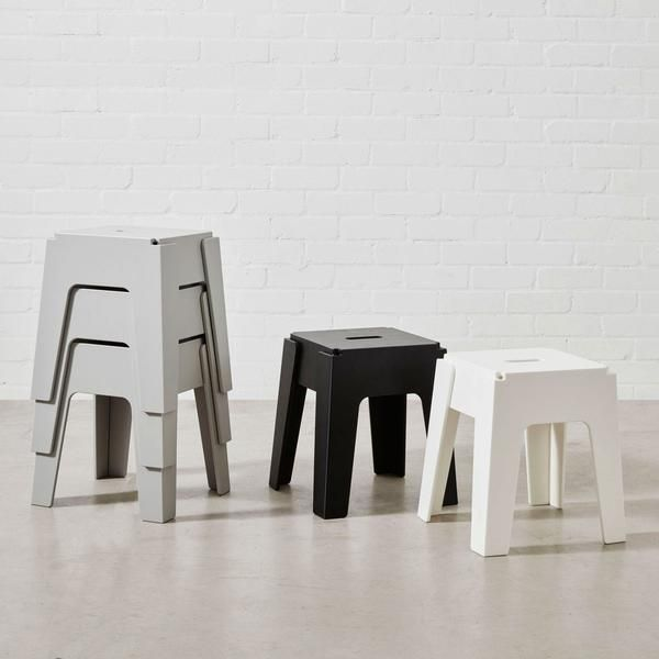 Butter Stool | Low Seating | Stackable Recycled Plastic Furniture | Indoor  U0026 Outdoor Use |