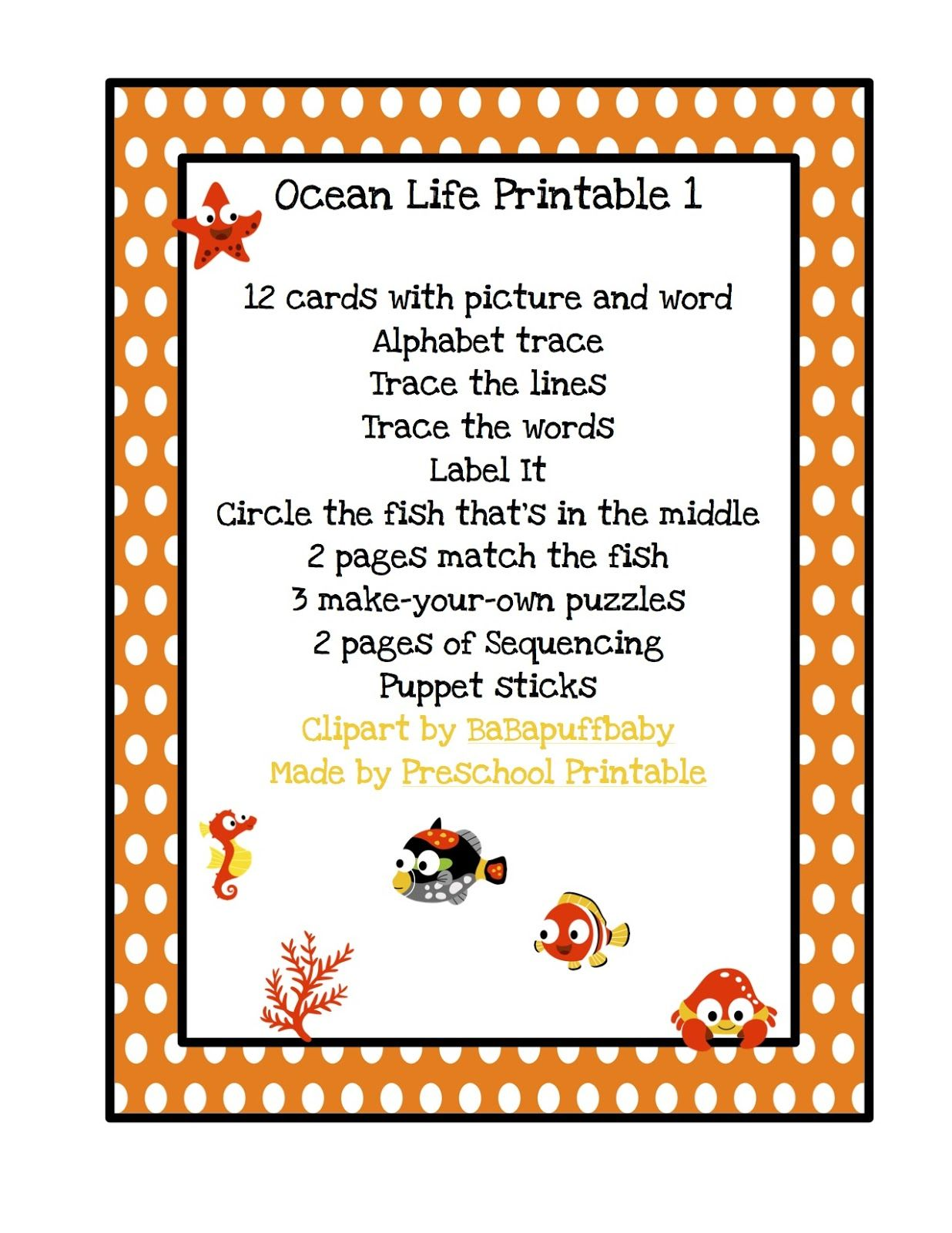 Preschool Printables Ocean With Images