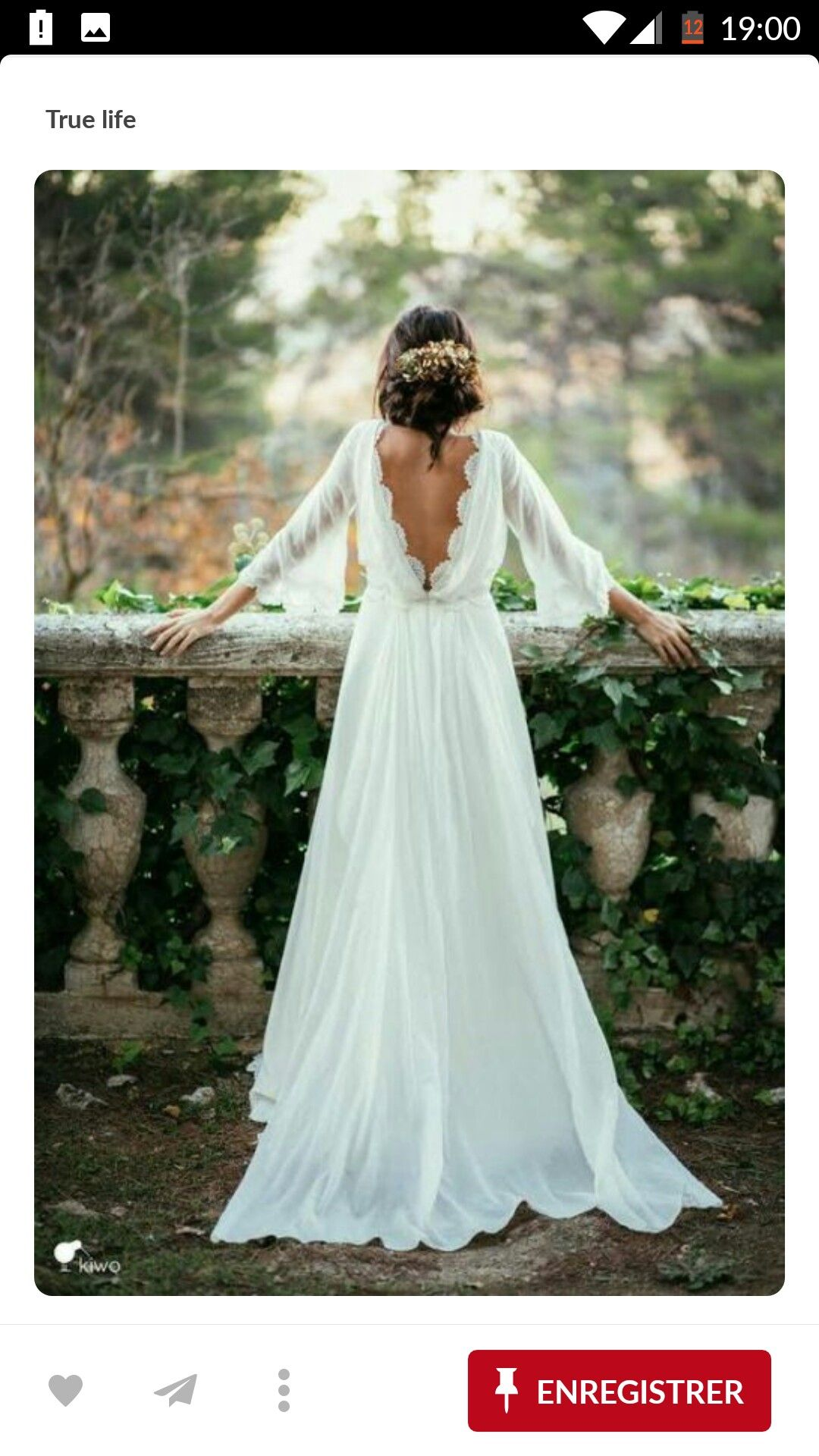Pin by miriam trovi on bryllup pinterest elegant wedding dress