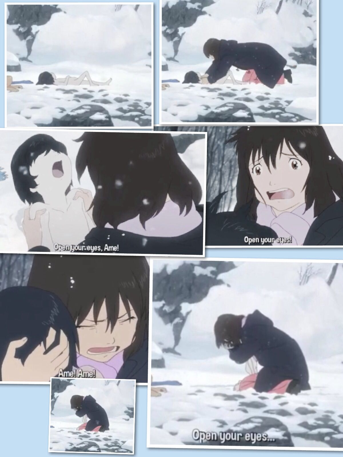 I cry every time ( Wolf Children ) go watch this movie