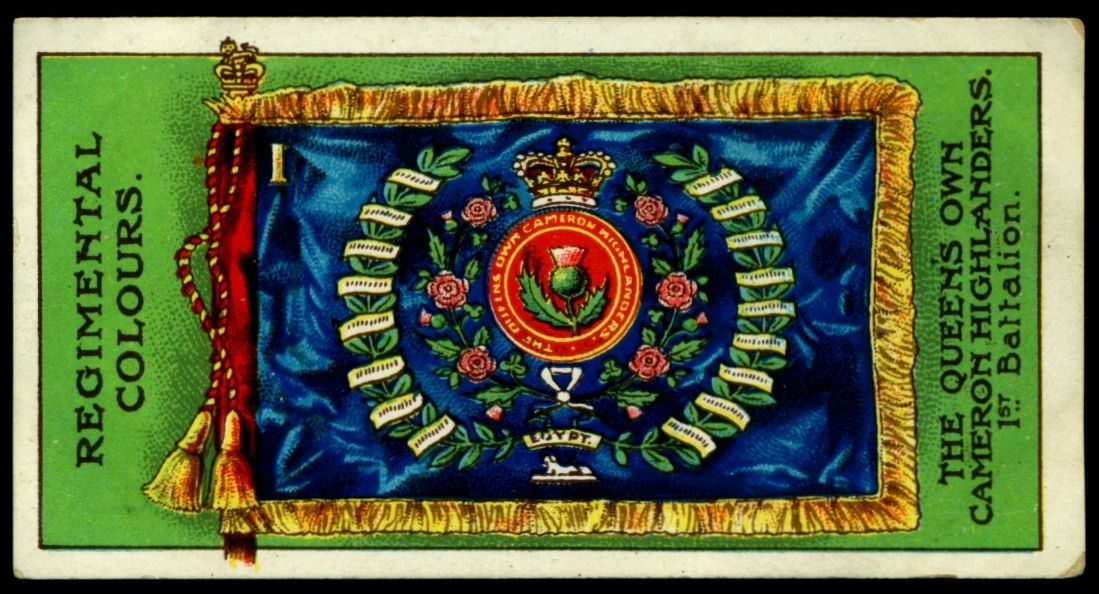 The Queens Own Cameron Highlanders 1st Battalion Queens Colours Flag
