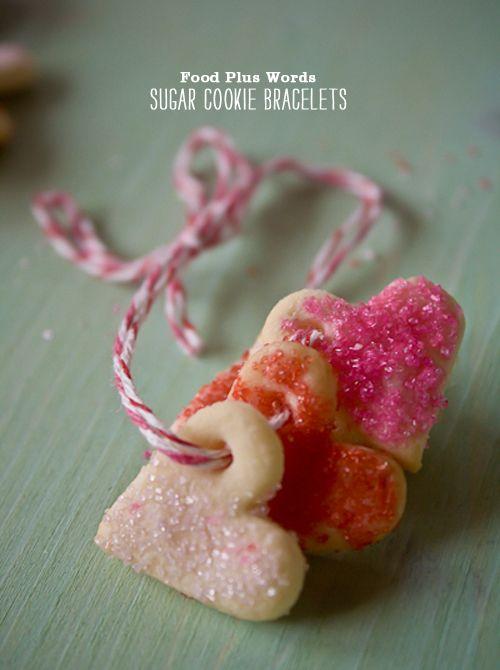 Craving > Sweet on Sugar Cookies Plus Valentine's Day Hearts ~ Sugar Cookie Bracelets!! genius #pink #sprinkles #baking #love