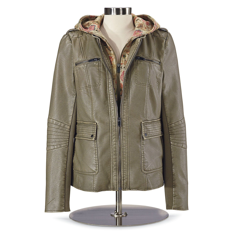 DiamondStitch FauxLeather Jacket NorthStyle Women's