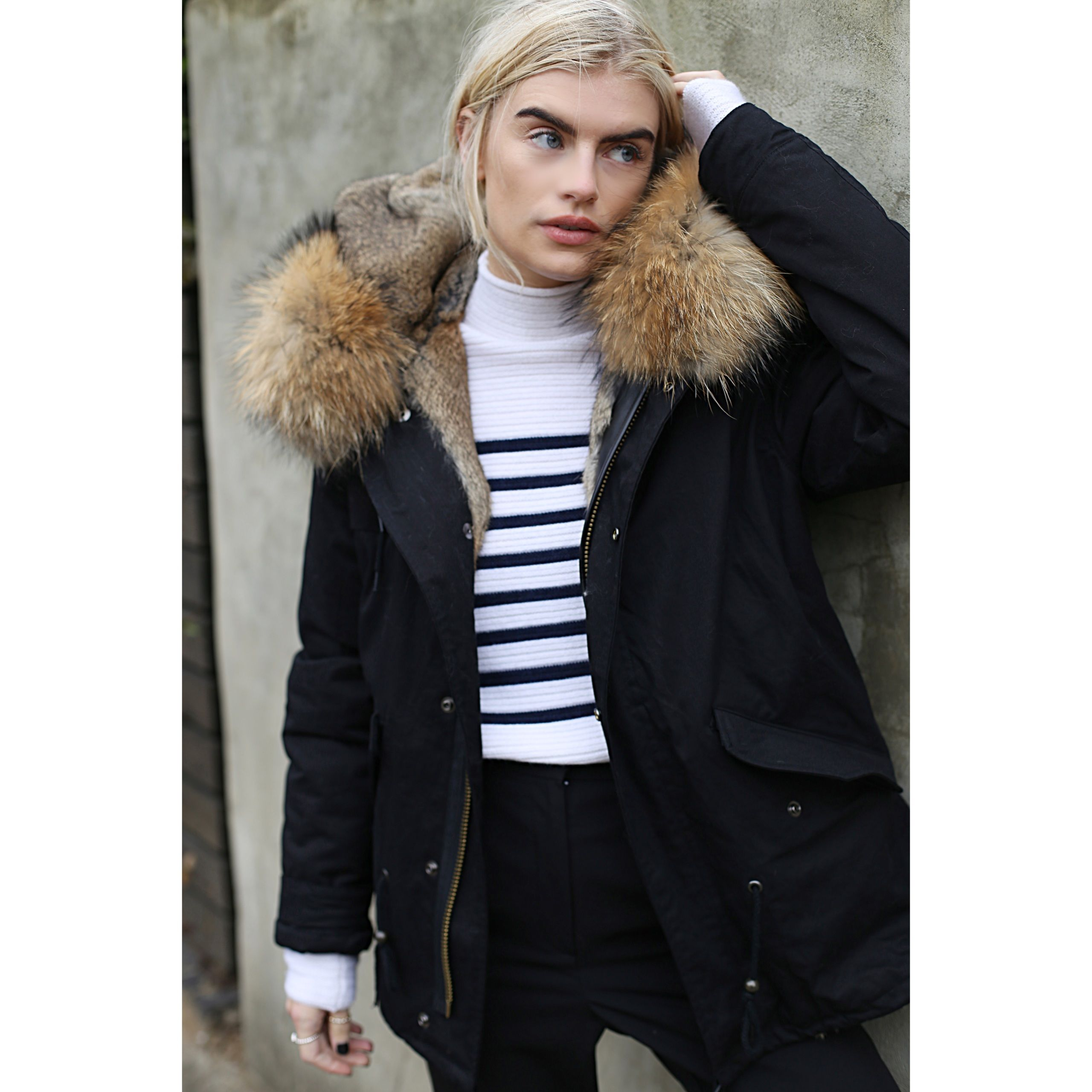 The exclusive DUCIE Parka comes in two styles, Natural and ...