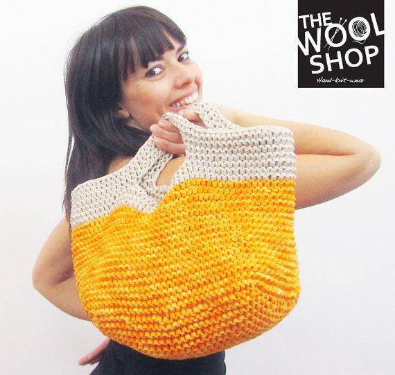 BORSA CONCHIGLIA - variante Yellow! la borsa per la tua estate realizzata a mano!