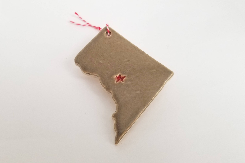 Gray Washington DC christmas ornament // District of ...
