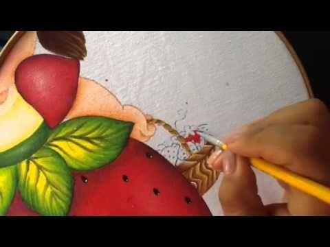 Pintura en tela niña fresa # 6 con cony - YouTube