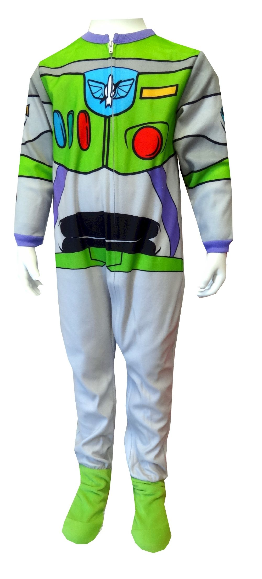 48d02e50a8 Disney Pixar Toy Story Buzz Lightyear Toddler Footie Pajama He ll look and  feel like Buzz in these awesome character pajamas! This flame resistant  blanket ...