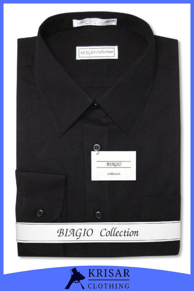 Biagio Men S 100 Cotton Solid Black Color Dress Shirt W Convertible Cuffs Mens Shirt Dress Designer Clothes For Men Shirt Dress [ 1102 x 735 Pixel ]