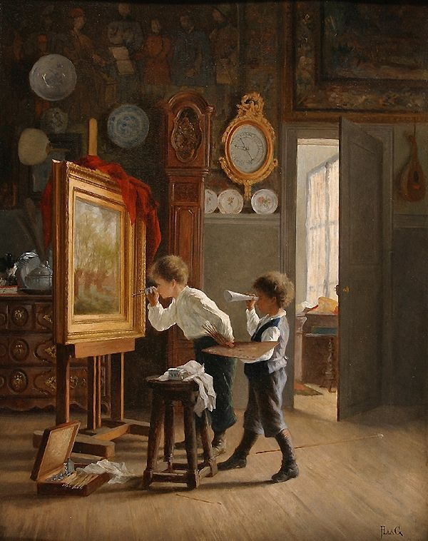jean paul haag french 1854 1906 the young critic. Black Bedroom Furniture Sets. Home Design Ideas