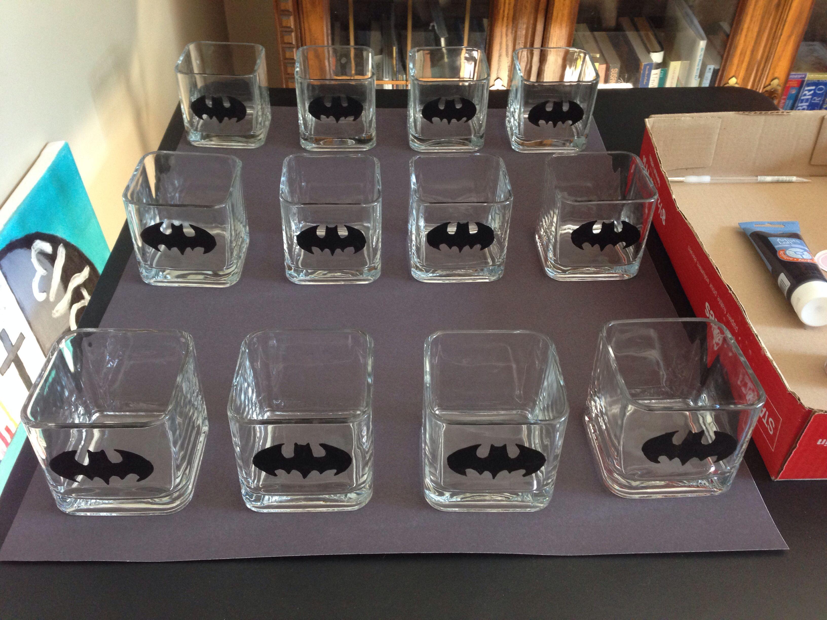 Batman Wedding centre pieces Wedding Batman Theme Pinterest