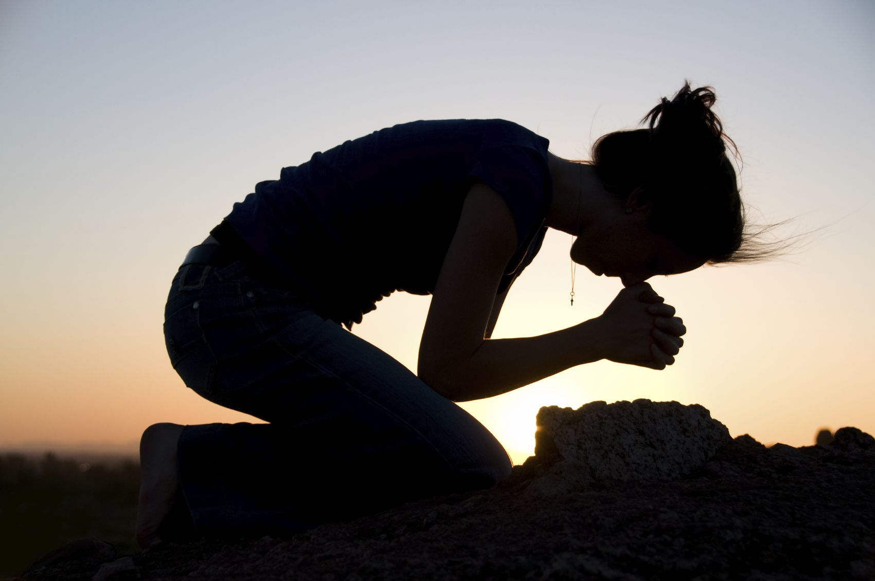 Three times a day he got down on his knees and prayed, giving thanks to his God, just as he had done before. Daniel 6:10