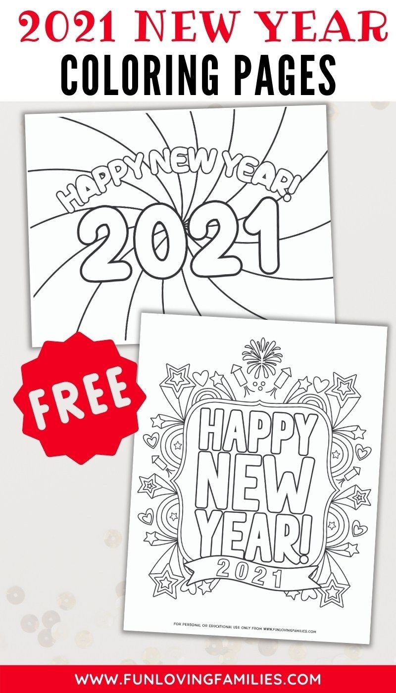 Happy New Year Coloring Pages For 2021 New Year Coloring Pages Coloring Pages Happy New Year Cards