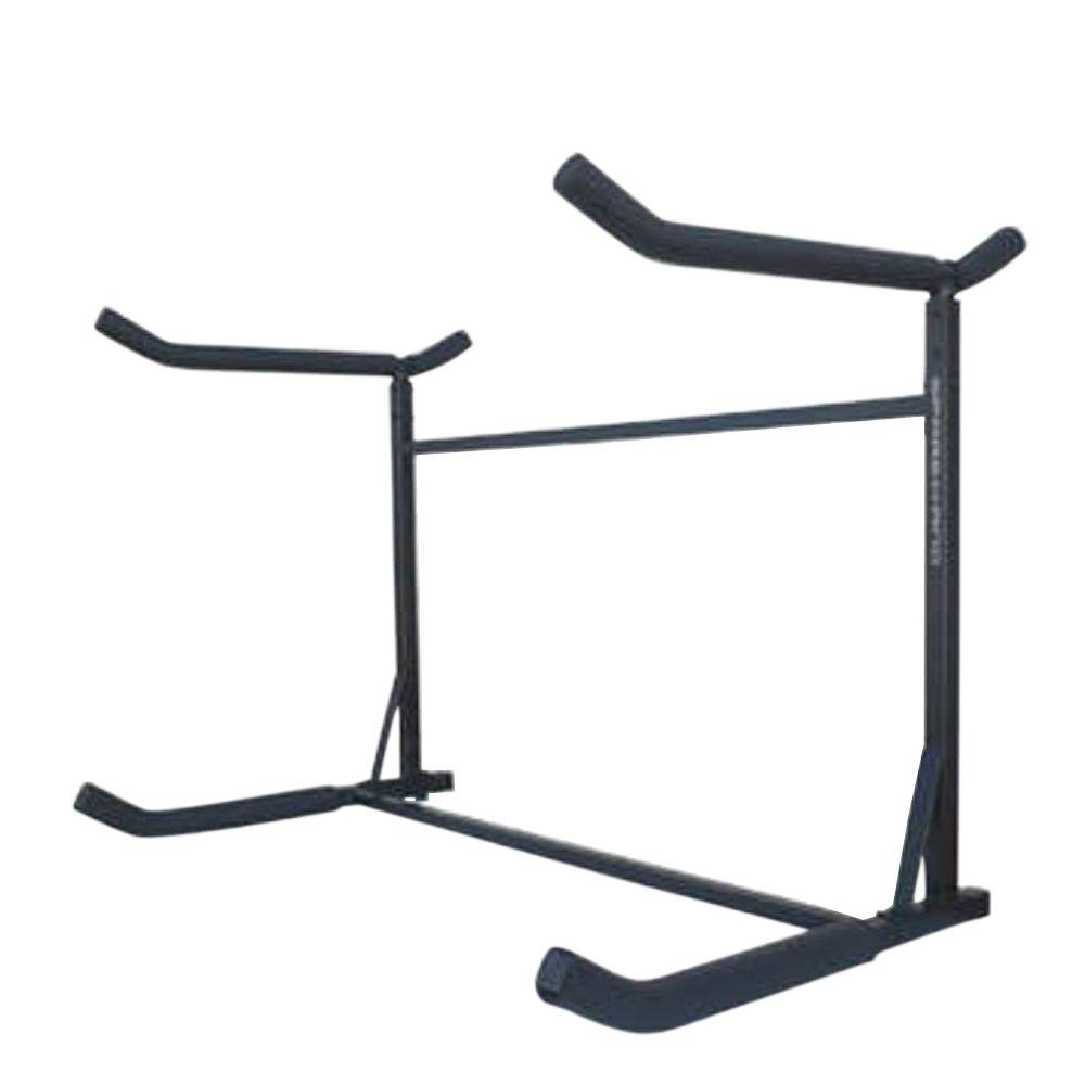 Stoneman Sports Sparehand Catalina Freestanding Double Storage Rack System For 2 Kayaks 2 Sups Or Canoe Kc 103 The Home Depot In 2020 Kayak Storage Rack Canoe Storage Kayak Storage