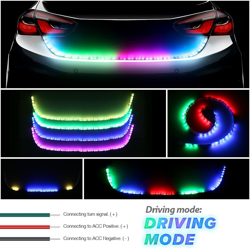 Introducing Our Lastest Amber Turn Signal Light Flow Led Trunk Strip Light Tailgate Luggage 12v Car Rear Lamp Dynamic Streamer In 2020 Strip Lighting Rgb Led Led Strip