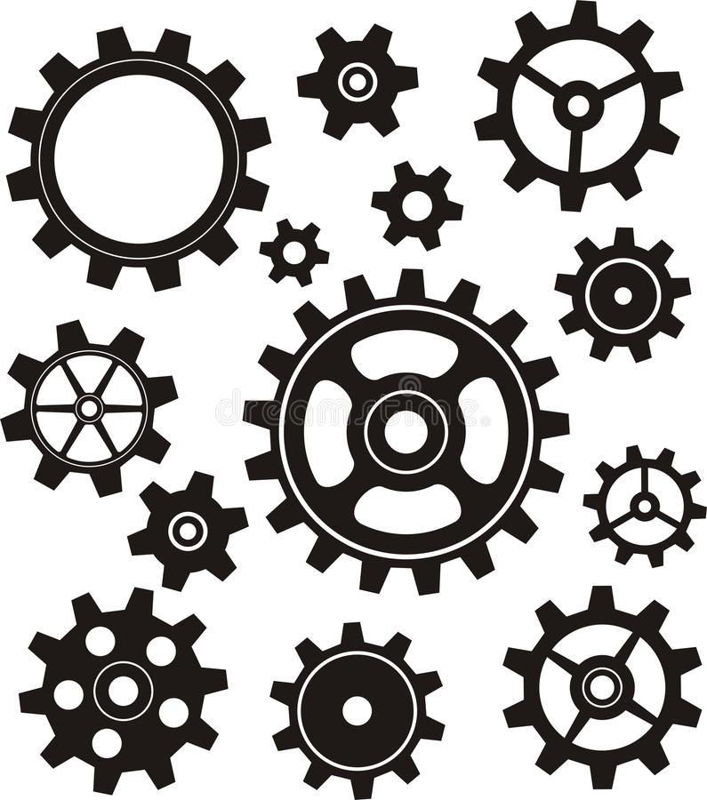 Gears Set Stock Illustration Clip Art Clip Art Pictures Art Clipart