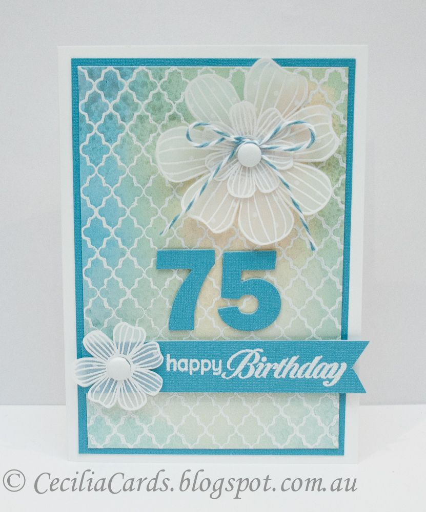 Cecilia S Cards 75th Birthday Birthday Cards Pinterest Cards