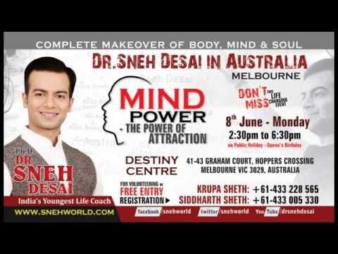 Sneh Desai's Free Mind Power Event in Melbourne Australia