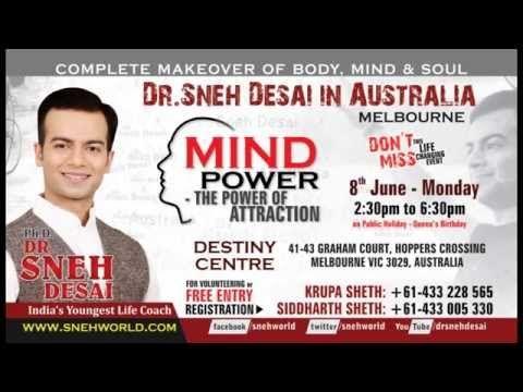 Sneh Desai's Free Mind Power Event in Melbourne Australia