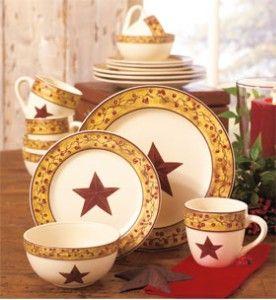 Star Berry Dinnerware Berries Dinnerware Country Home Decor