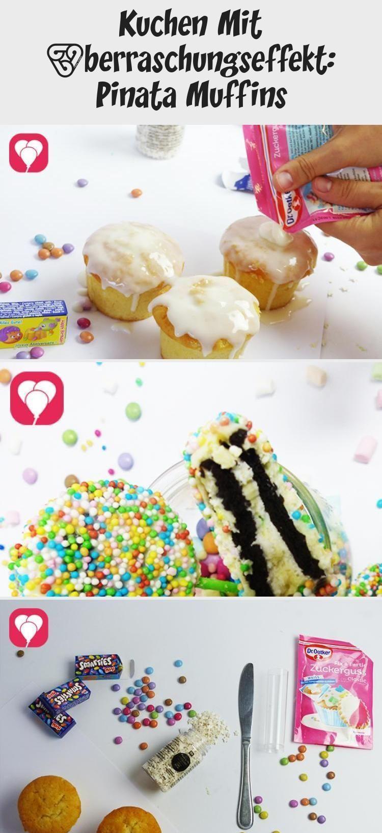 Photo of Kuchen mit Überraschungseffekt: Pinata Muffins – balloonas #PinataKuchenEinfach…