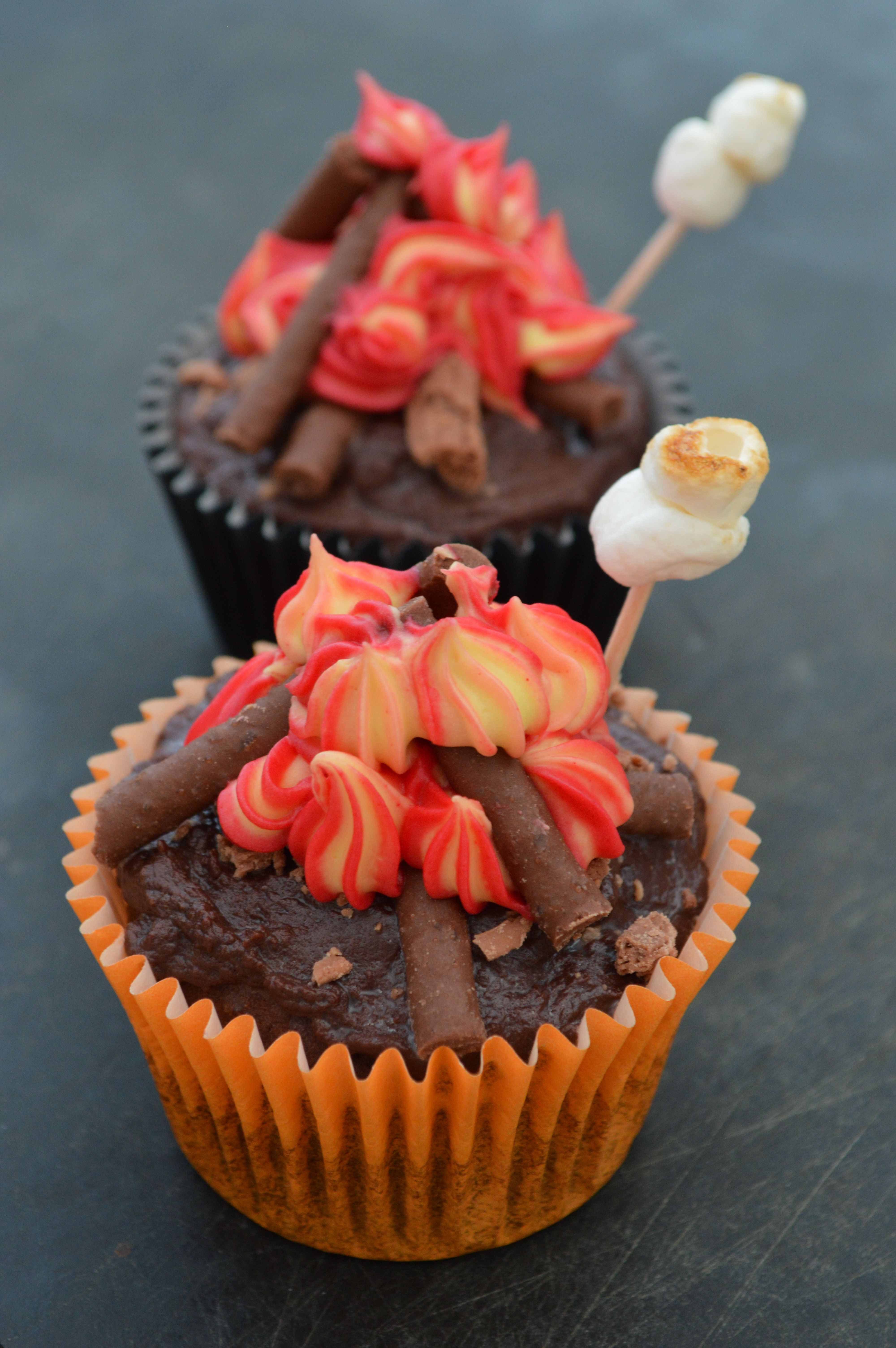 Bonfire Night Cupcakes Spiced Chocolate Cupcakes Topped With