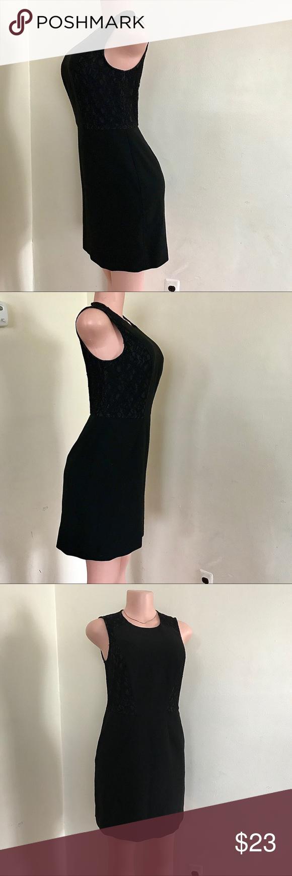 Ann Taylor Black Lace Dress Sz 4 Casual Cocktail Dress Black Short Sleeve Dress Black Lace Dress [ 1740 x 580 Pixel ]