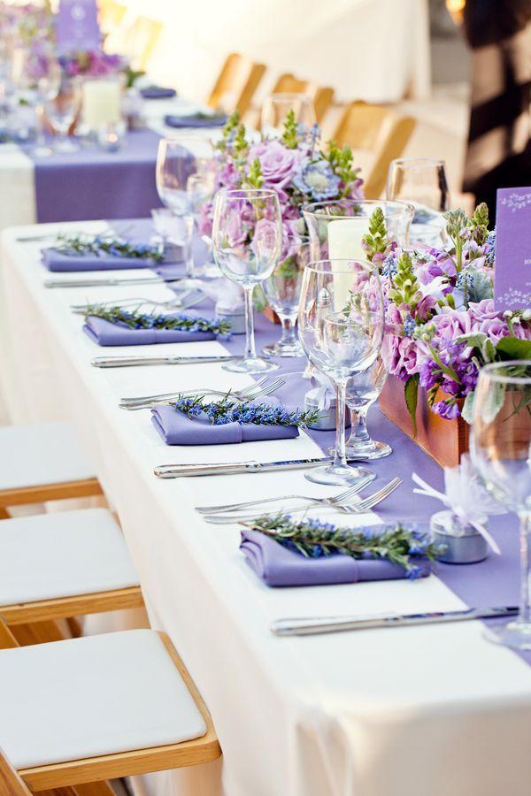 lavender in table setting | ... : Lavender Bundles ; Lavender Wrapped Candle ; Lavender Cupcake