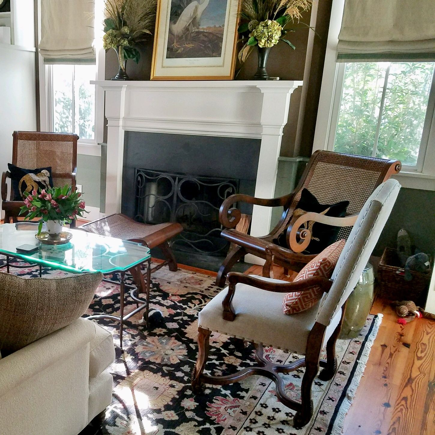 cozy living room for our charleston client  interior