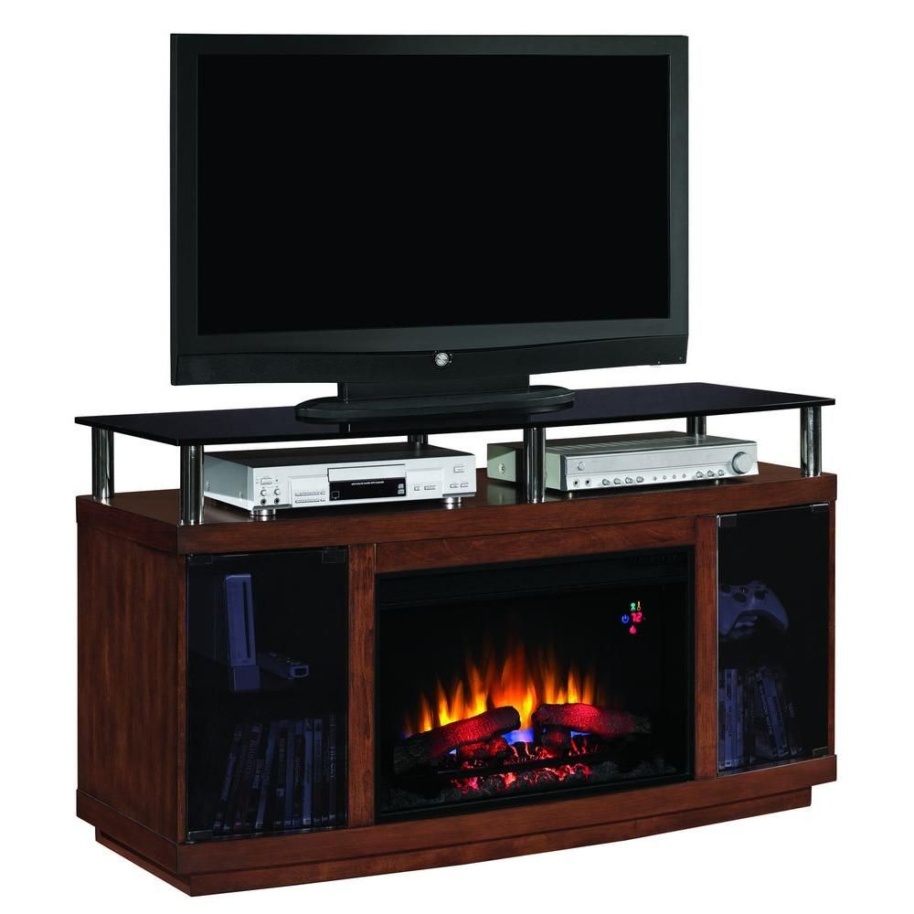 Drew in media mantel electric fireplace in autumn birch