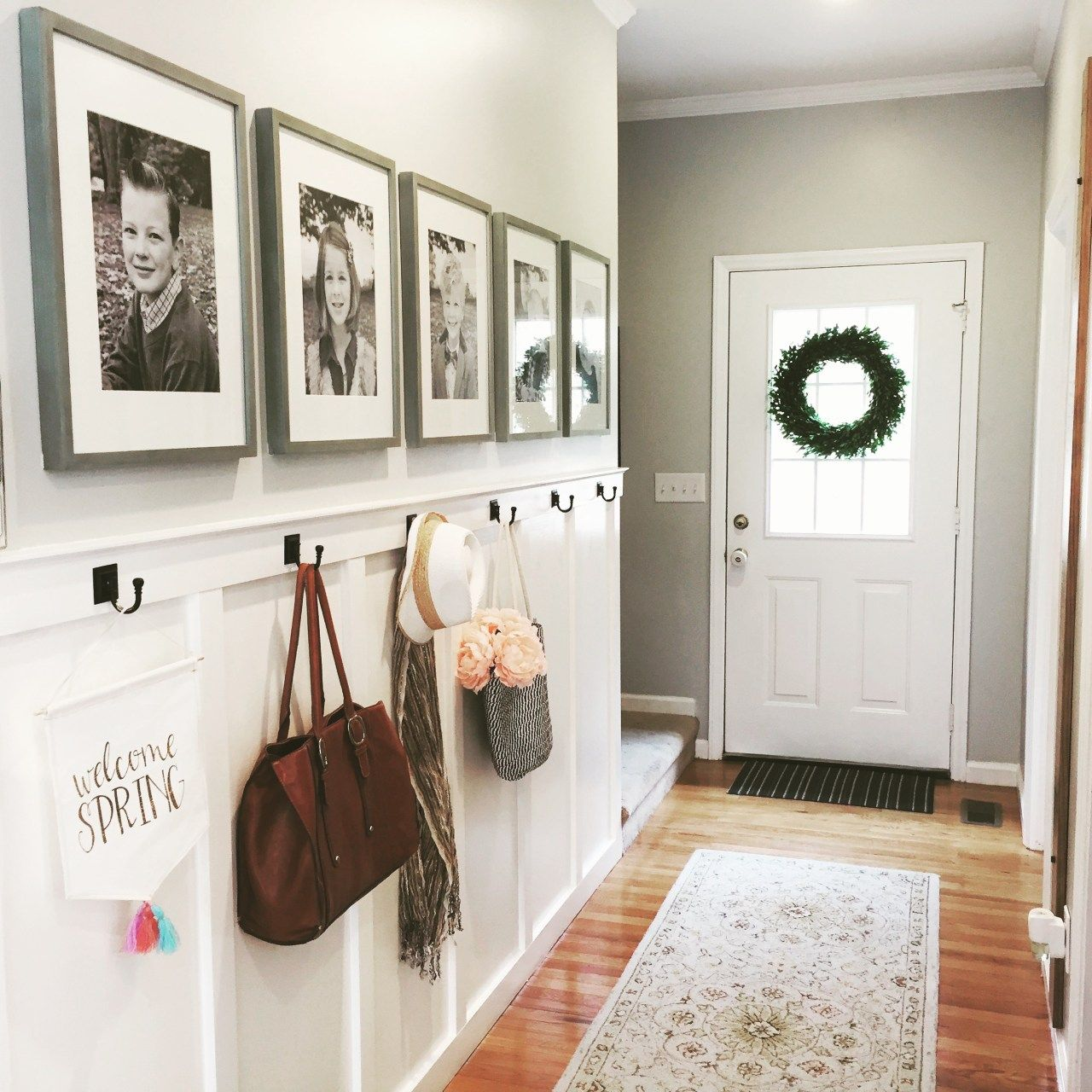 Photo of No Mudroom? No Problem! Solution: Board and Batten Wall
