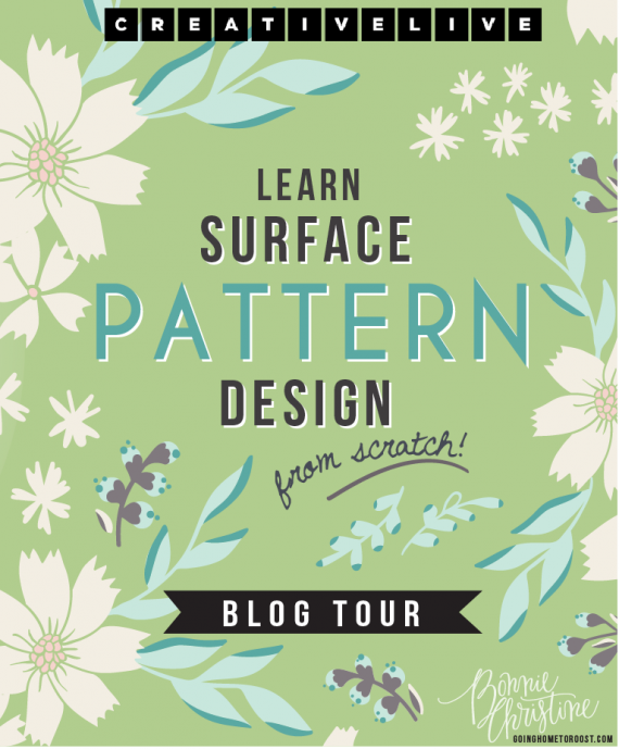 design surface patterns from scratch blog tour! - going home to roost