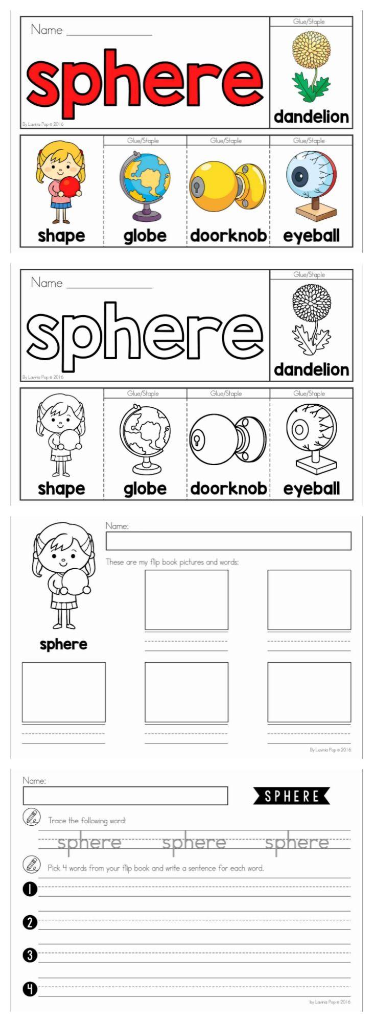 3d shapes book for kindergarten printable