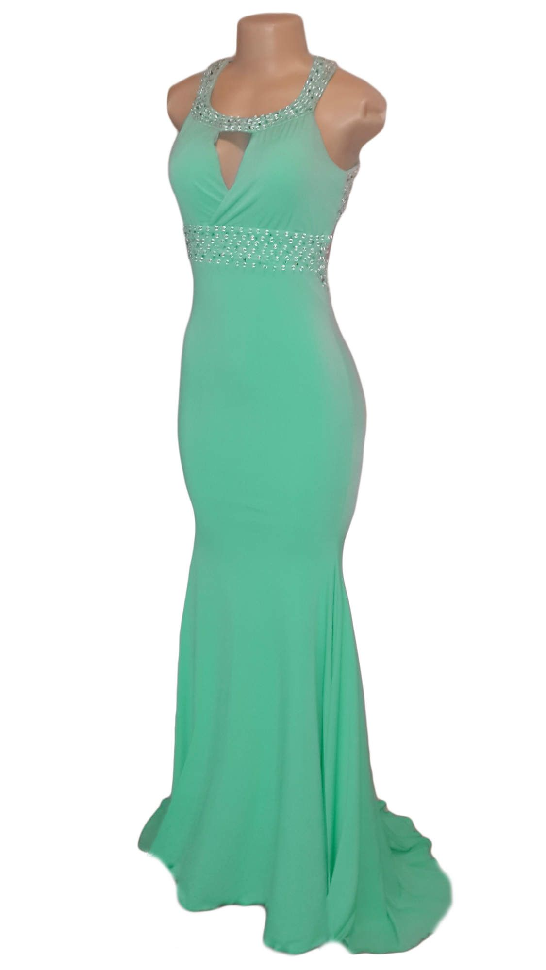 Buy Now - Beaded mint green soft mermaid matric farewell dress ...