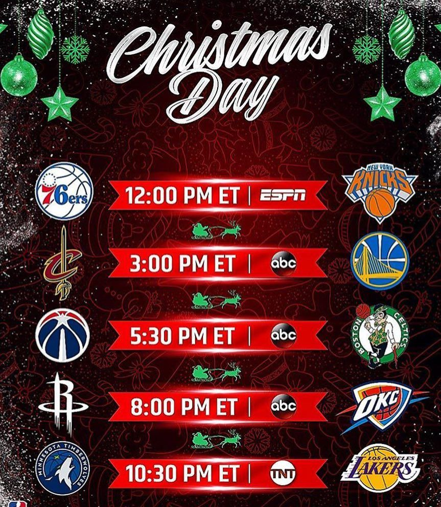 who are your picks for the winner of the nba christmas games comment all 5 winners gets a shoutout nba basketball - Christmas Games Nba